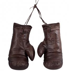 Guantes Boxeo Piel Vintage Marrón