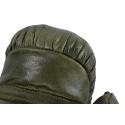 Guantes Boxeo decorativos con piel en color verde de estilo vintage