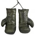 Guantes Boxeo decorativos de piel auténtica de estilo vintage