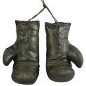 Guantes Boxeo Negros realizados en piel auténtica de estilo vintage
