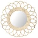 Espejo de pared realizado con Rattan redondo