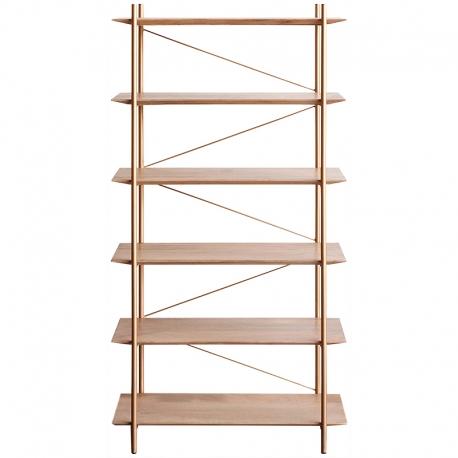 Librería metálica con baldas de madera Fernanda