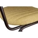 Taburete tapizado con respaldo Armand Espiga Verde