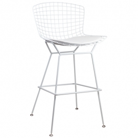 Taburete de Metal Royal White