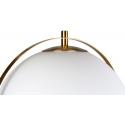 Lámpara colgante con forma de globo blanco de cristal