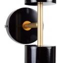 Aplique doble bidireccional dorado y negro de diseño art deco Cayetana