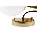 Lámpara diseño estructura en dorado y globo de cristal Leonor