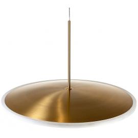 Lámpara Colgante Dorada Diseño Platillo