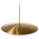Lámpara dorada con forma de Platillo y luz original de LED