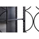 Vitrina de cristal con acabado metálico y bonito diseño contemporáneo