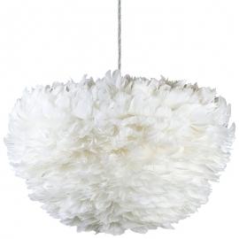 Lámpara Colgante de Plumas Blancas