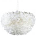 Lámpara de Plumas de Ave blancas