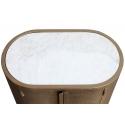 Consola metálica color dorado con sobre de mármol blanco Alice