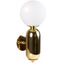 Aplique de pared dorado con esfera de cristal Rita
