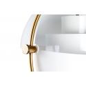 Lámpara de techo de diseño Artemide en color blanco y dorado