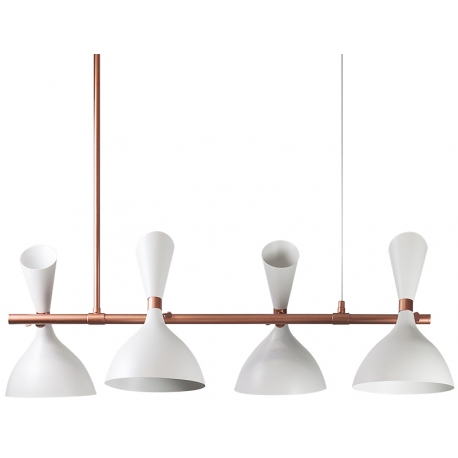 Lámpara de techo con cabezas Georgette Blanco