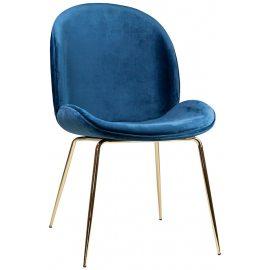 Silla Concha Terciopelo Azul