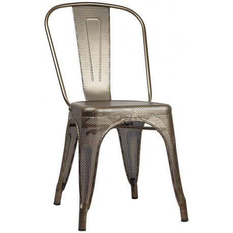 Silla Tolix perforada de estilo industrial apilable