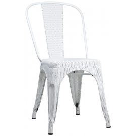 Silla Industrial Perforada Mesh Blanca
