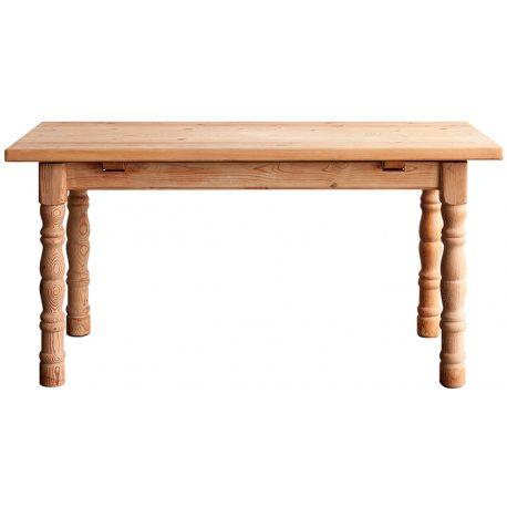Mesa Comedor antigua realizada en madera maciza de pino en color natural