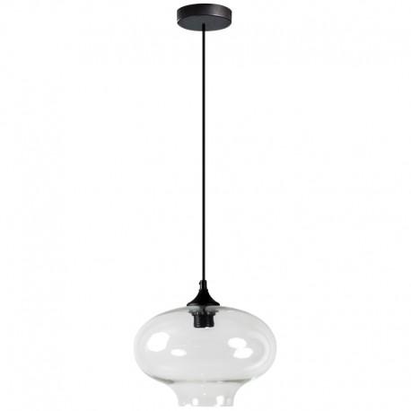Lámpara Colgante de cristal con forma de globo transparente pyles