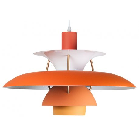 Lámpara Réplica PH50 de Techo con platos naranjas de diseño