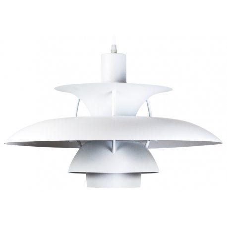 Lámpara Réplica PH50 de platos en color blanco de diseño 50cm