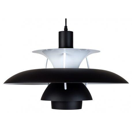 Lámpara Réplica PH50 con platos en color negro y blanco de 50cm