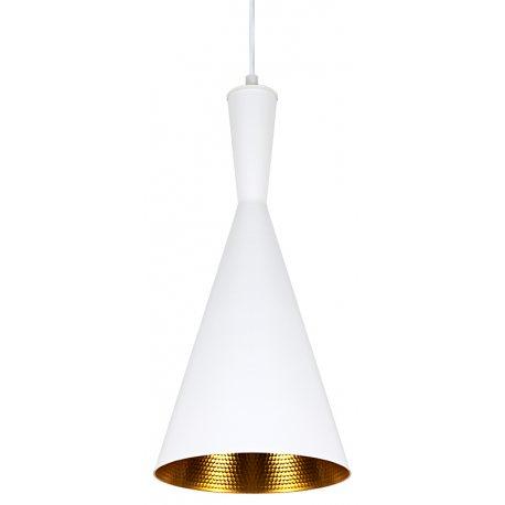 Réplica Lámpara Beat Shade Tall color blanco interior dorado