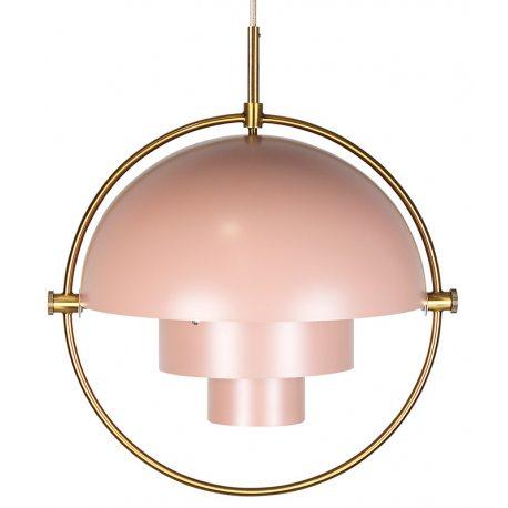 Lámpara de techo de diseño Artemide en color rosa y dorado