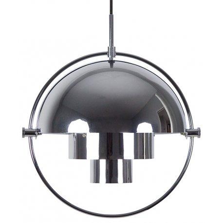 Lámpara colgante diseño artemide en color plateado y forma esférica