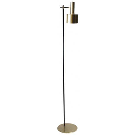 Lámpara de Pie de Diseño con Pantalla dorada Altura 165cm