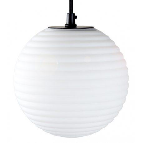 Lámpara Colgante con Bola de cristal labrado blanco