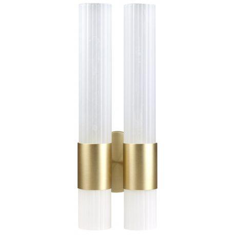 Aplique Doble dorado de Cristal labrado de diseño moderno minimalista