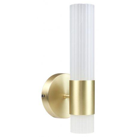 Aplique dorado con Cristal Labrado en forma de barra diseño moderno minimalista