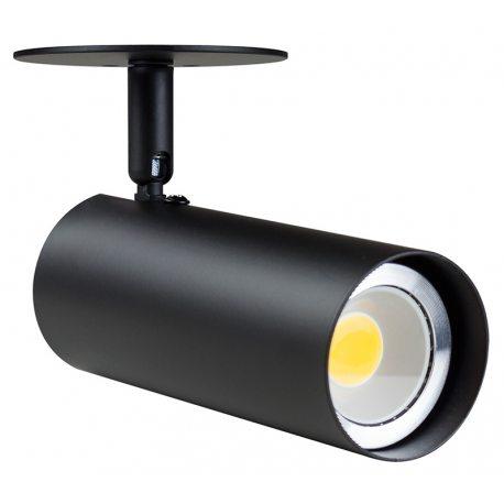 Foco LED de Pared Minimalista de color negro orientable