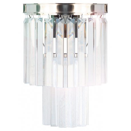 Aplique de pared metálico con Cristales K9 de diseño y estilo clásico
