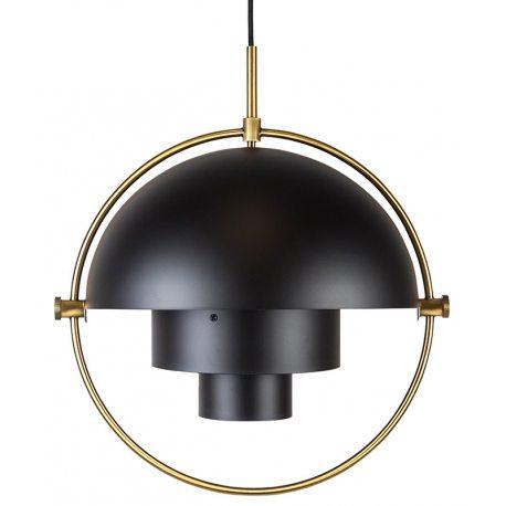 Lámpara de techo negra réplica Louis Weisdorf