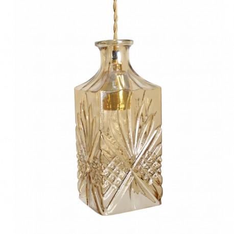 Lámpara Botella Cristal