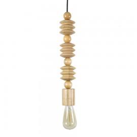 Lámpara de madera colgante Cuentas A