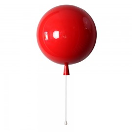 Aplique Lampara Balloon Rojo