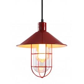 Lámpara de Techo Roja Jaula