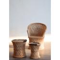 Taburetes bajos de Bambú natural, perfectos como banquetas o elementos decorativos