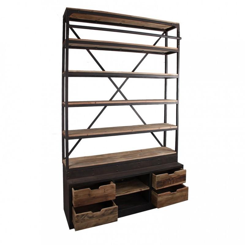 Estanteria libreria con escalera singular market - Librerias con escalera ...