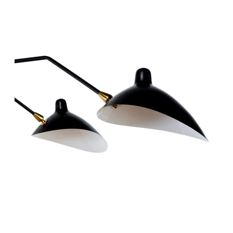 L mpara replica de serge de techo con tres cabezas for Replicas de lamparas