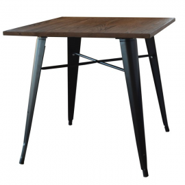Steel Wood Table S