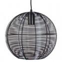 Lámpara nórdica de color negra de Rattan