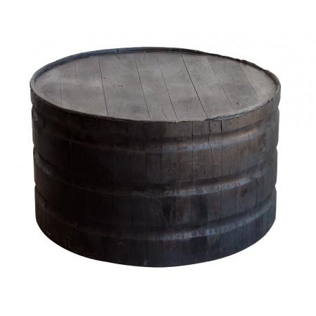 Mesa de Centro redonda de madera envejecida oscura
