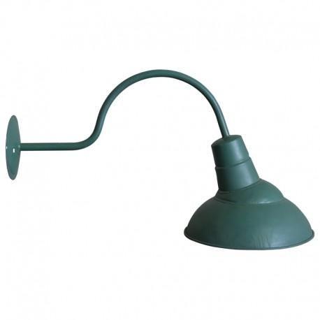 Aplique brazo de estilo industrial envejecido verde