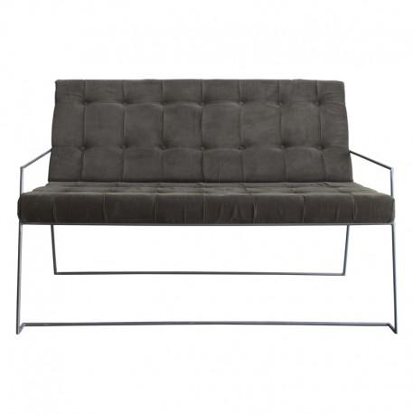 Sofá tapizado en pana gris Corduroy